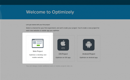 Optimizely- Create an application